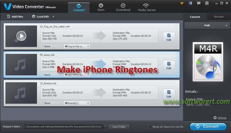 create iphone ringtones