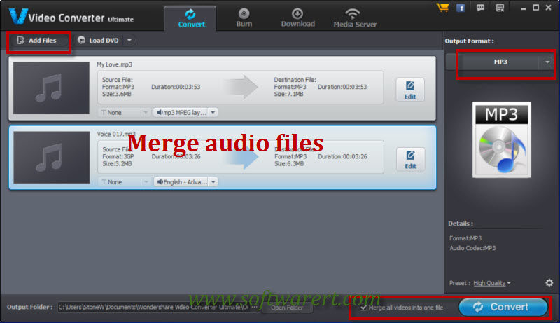 merge audios on mac and pc