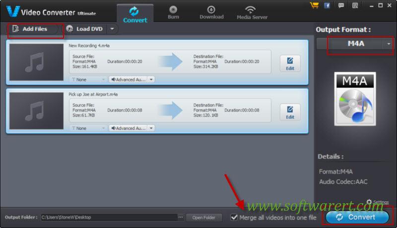 merge iphone voice memos or recordings