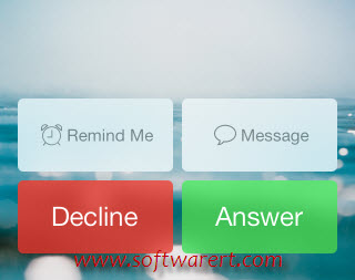 options to decline or answer phone calls on iphone