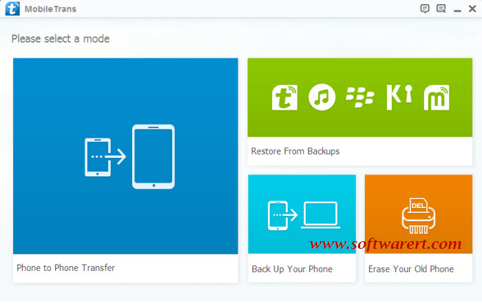 mobile phone data transfer software interface