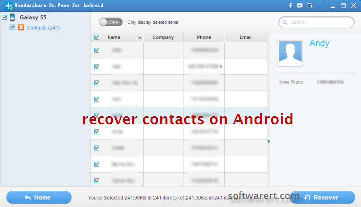 recover contacts on Android