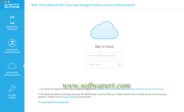 recover data from icloud using iphone data recovery for mac