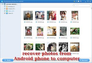 Recover Data from Android using Android data recovery