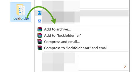 how to add a password to winrar archive