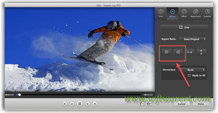 rotate videos on mac using video converter ultimate