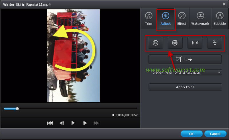 rotate videos using video converter ultimate