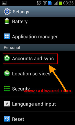 samsung accounts and sync settings
