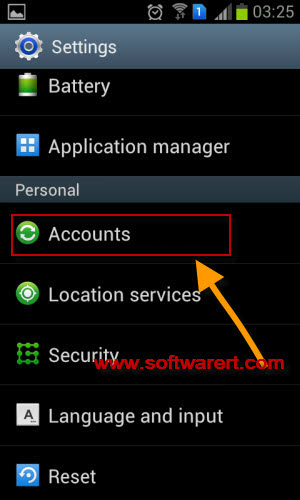 manage accounts on samsung mobile