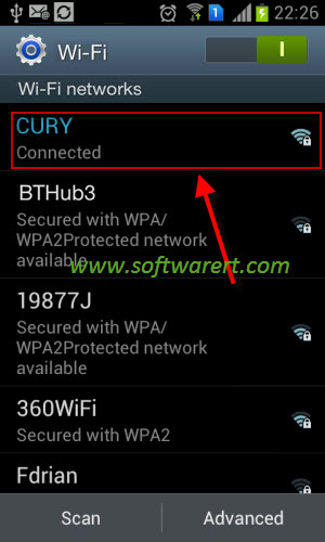 active wi-fi network on samsung mobile