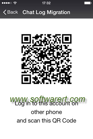scan qr code to migrate wechat chat history from iphone
