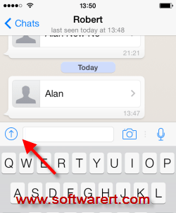 send files in whatsapp on iPhone