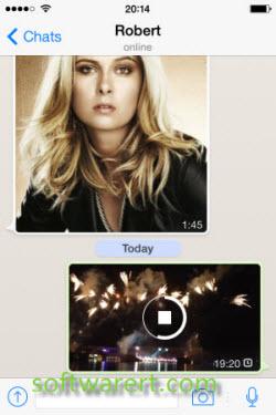 sending video from iphone through whatsapp
