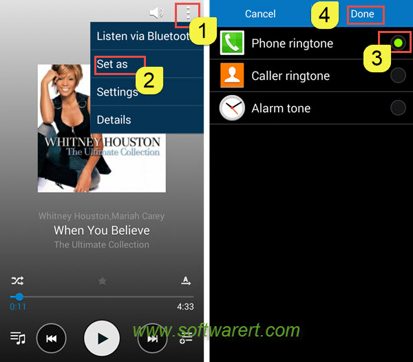 set a song as ringtone on Samsung mobile phones