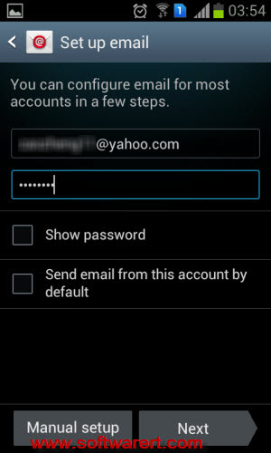 set up-yahoo email account Android