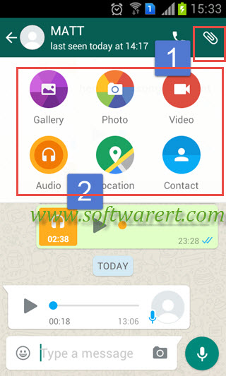 share files in whatsapp chat on android phone