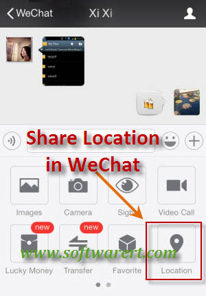 share your location info using wechat for mobile