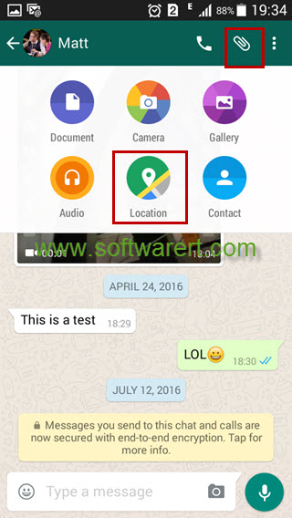 WhatsApp locate software for mobile phone