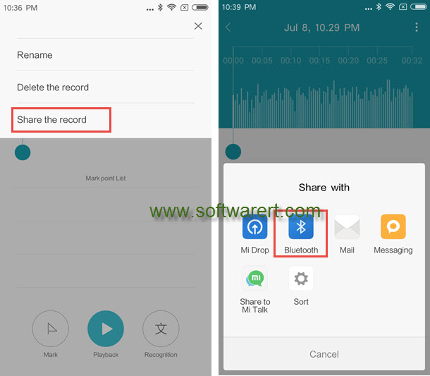 Trim and merge Xiaomi phone sound recordings