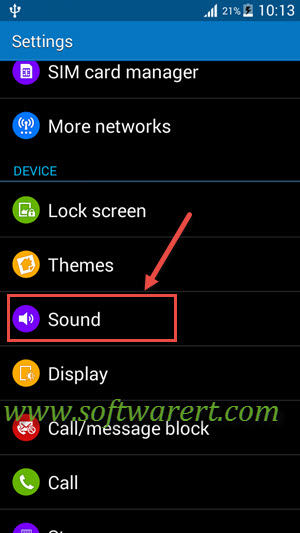 sound settings for samsung galaxy grand prime