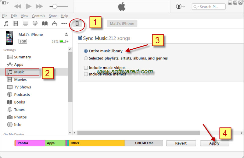 sync itunes to iphone sync from pc to iphone through itunes 7055