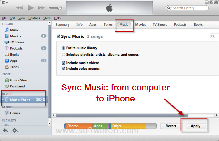 itunes sync iphone