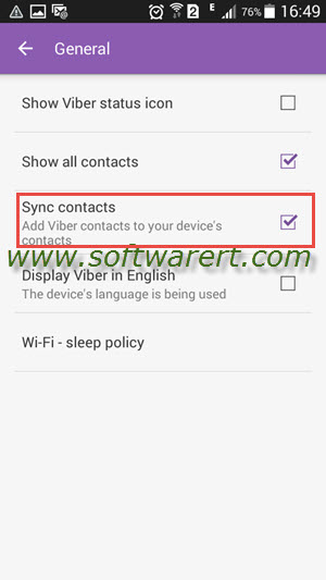 sync viber contacts to android phone