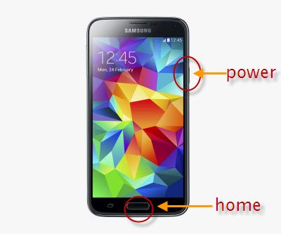 Take Screenshot on Samsung Galaxy S5 S4