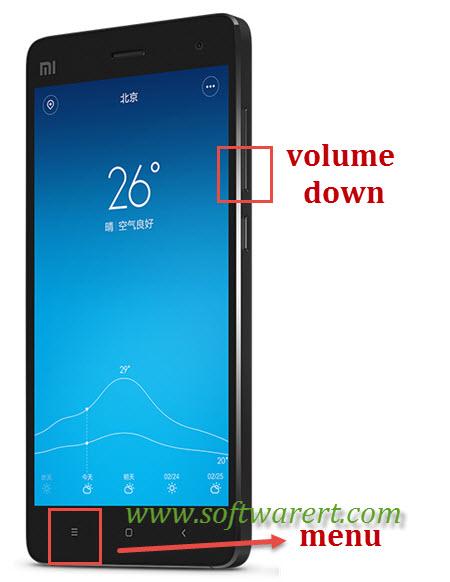 take screenshot on xiaomi redmi mobile phone