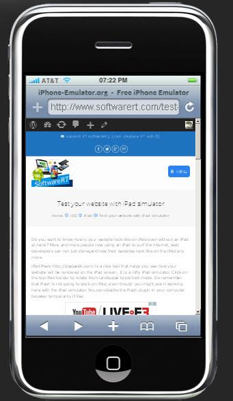 test website on iphone emulator