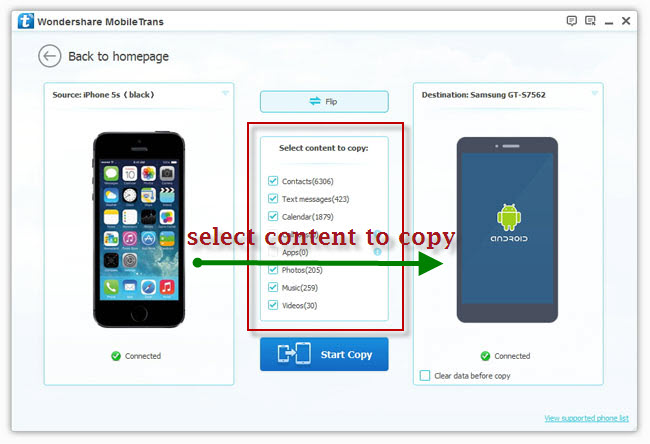 transfer contacts from iphone to samsung