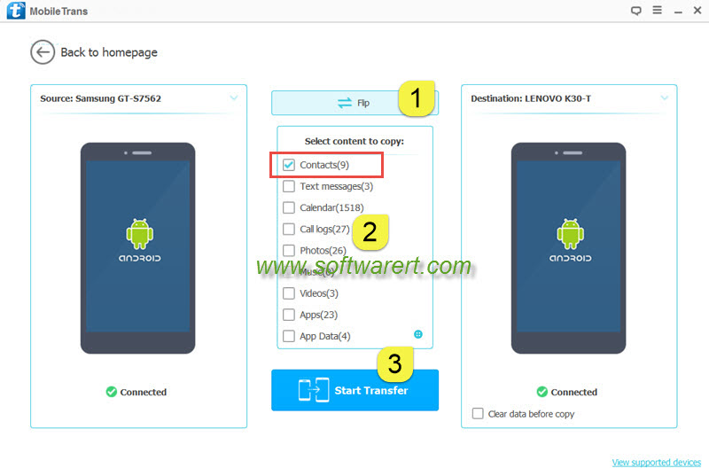 how to move 1 app data between two android phones