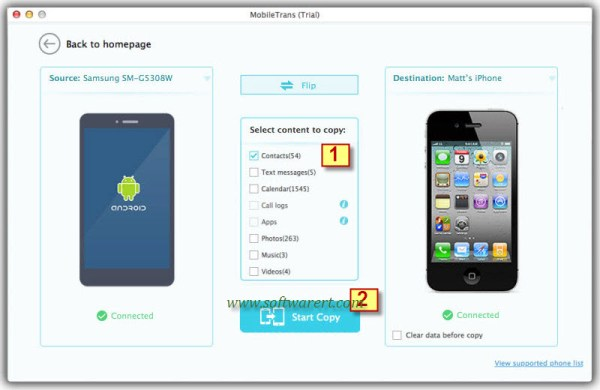 How to transfer contacts from Samsung to iPhone via Mac?