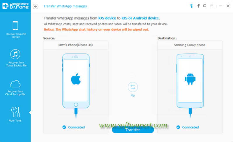 how to transfer whatsapp messages from iphone to new android phone