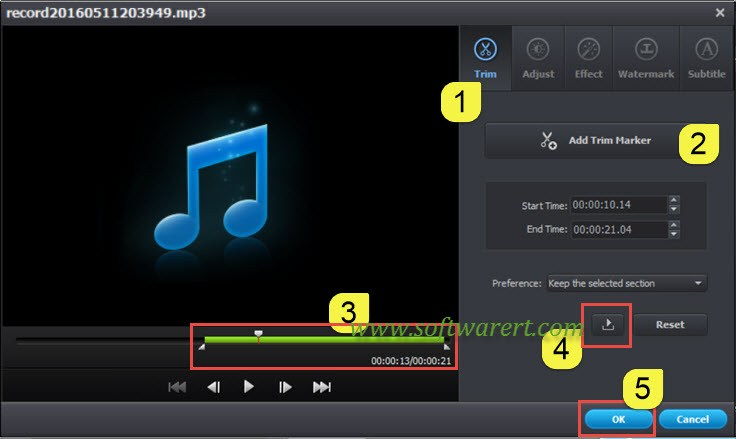 trim sound music songs video using media converter ultimate