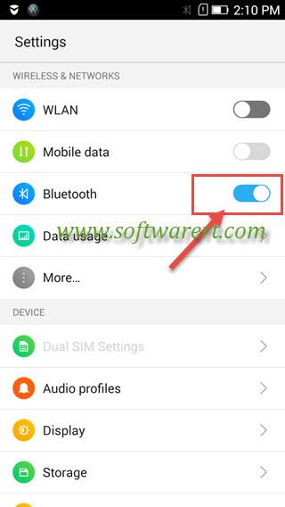 turn on bluetooth on lenovo mobile phone