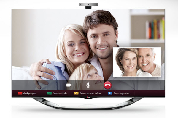 video call on TV