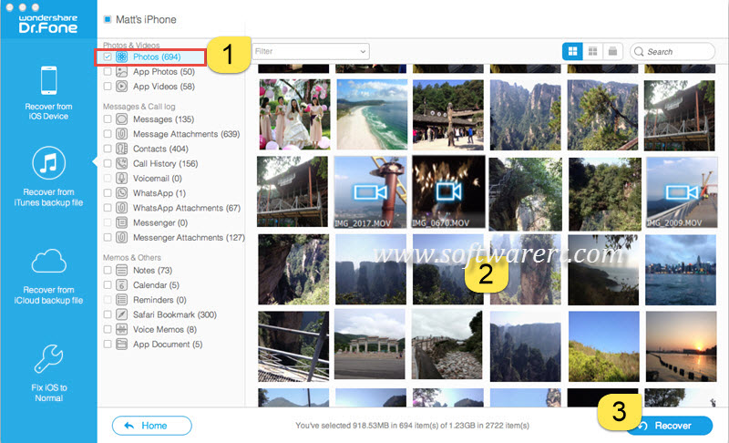 view photos in iTunes backup on Mac