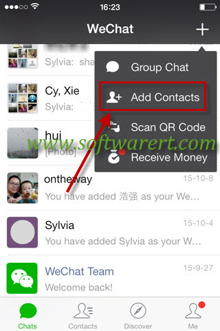 Share Name Cards in WeChat on iPhone