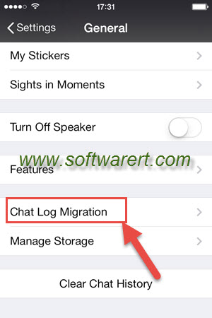 wechat for iPhone chat log migration