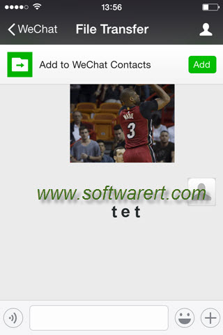 wechat file transfer iphone