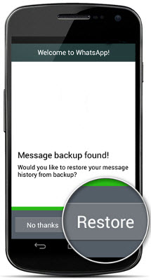 whatsapp message restore on android mobile