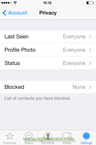 whatsapp privacy settings on iphone