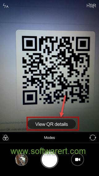 scan qr code using camera on xiaomi redmi phone