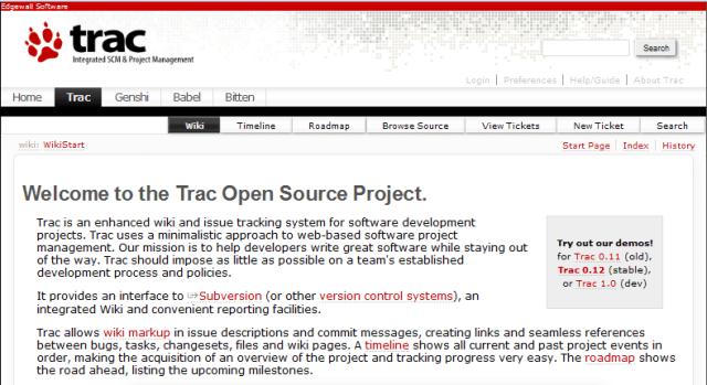 trac-bug-tracker
