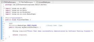 REST Project Plain Text Demo