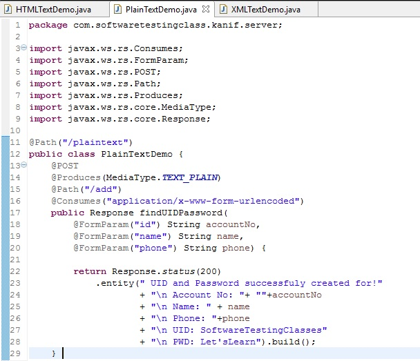 SoapUI Plain Text Demo