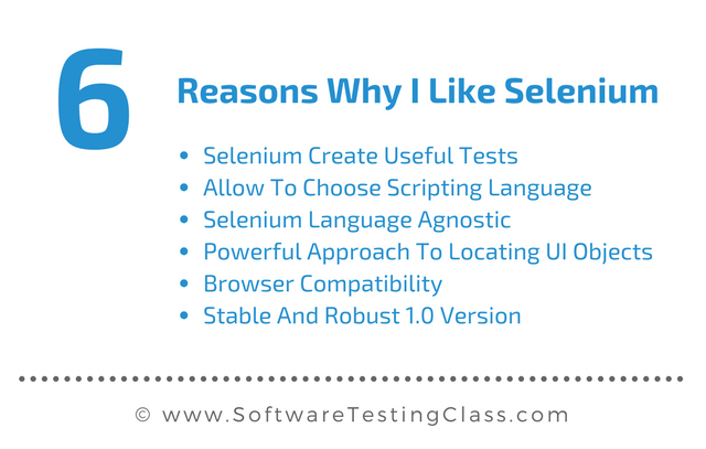 Top Six Reasons Why I Like Selenium