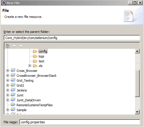 Core Hybrid config.properties