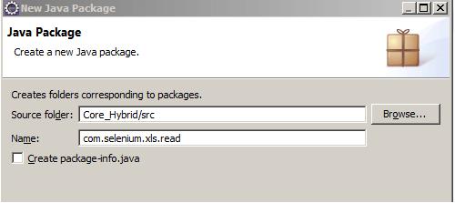 Core Hybrid xls Read Package